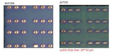 Bolite selective laser lift-off photo
