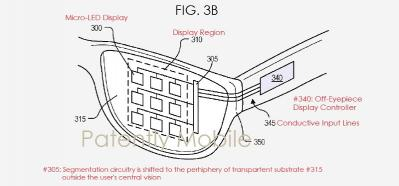 Google Micro-LED AR patent figure