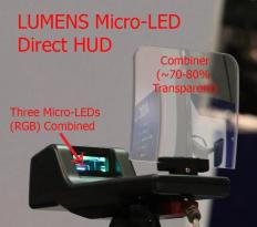 Lumens MicroLED HUD prototype (CES 2018)