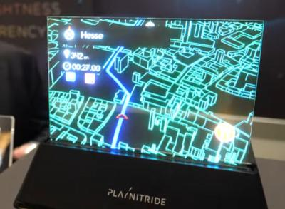 PlayNitride's 7.56'' transparent Micro-LED prototype display (SID DisplayWeek 2019)