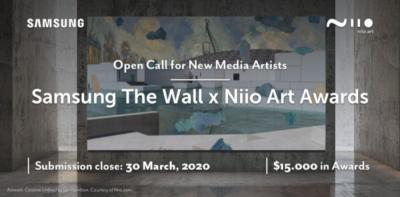 Samsung The Wall Niio Art Awards 2020 call
