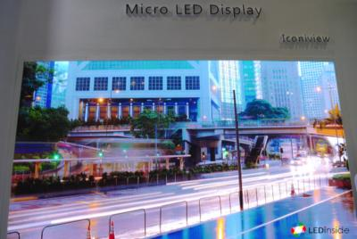 Shineon Iconiview MicroLED prototype display (GILE 2019)