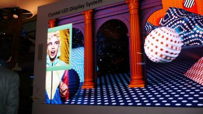 Sony Crystal-LED (CLEDIS) demonstration (ISE 2018)