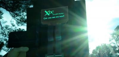 XDC MicroLED display prototype, February 2022
