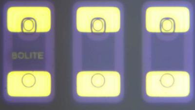 Laser Micro Marking of the BOLITE name on an LED