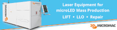 3D-MicroMac - laser equipment for MicroLED mass production